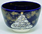 Kyoyaki Tea Bowl With Design Of Christmas