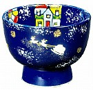 Kyoyaki Tea Bowl With Christmas Design
