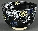 Kyoyaki Tea Bowl With Snow Crystal