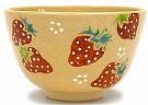 Kyoyaki Tea Bowl With Ichigo Design