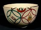 Elegant Kyoyaki Tea Bowl With Design Of Shippo Tsunagi